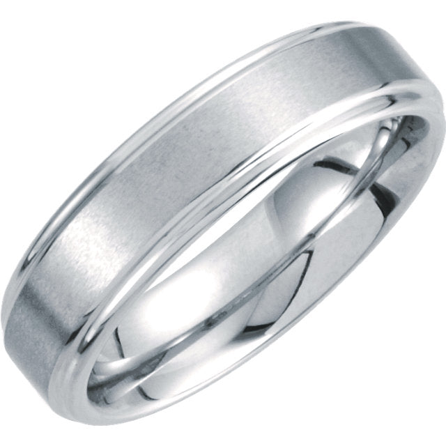 Tungsten Ridged 6mm Men's Wedding Ring - Michael E. Minden Diamond Jewelers