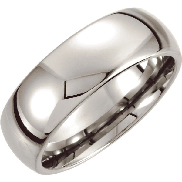 Cobalt Comfort Fit Slightly-Domed Men's Wedding Ring - Michael E. Minden Diamond Jewelers