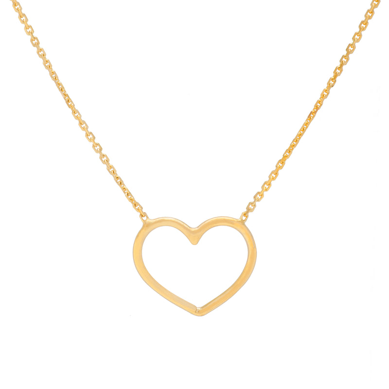 Cut-out Heart Necklace - Michael E. Minden Diamond Jewelers