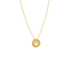 Cut-out Paw Print Necklace - Michael E. Minden Diamond Jewelers