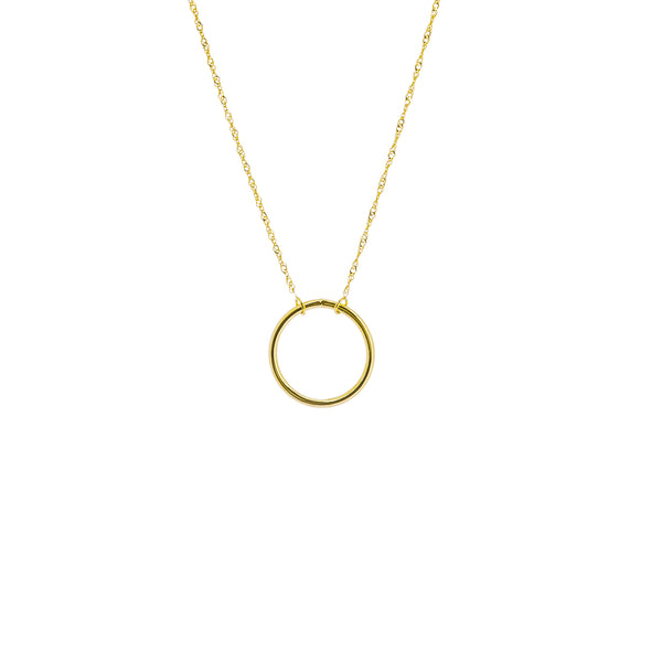 Open Circle Necklace - Michael E. Minden Diamond Jewelers