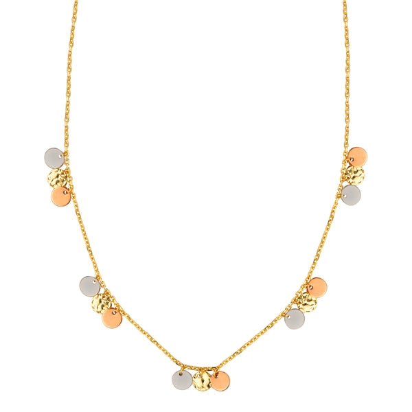 Triple Disc Dangle Necklace - Michael E. Minden Diamond Jewelers