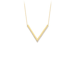 "Dainty ""V"" Necklace - Michael E. Minden Diamond Jewelers"