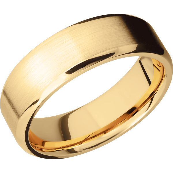 Beveled Men's Wedding Ring with Satin Finish - Michael E. Minden Diamond Jewelers
