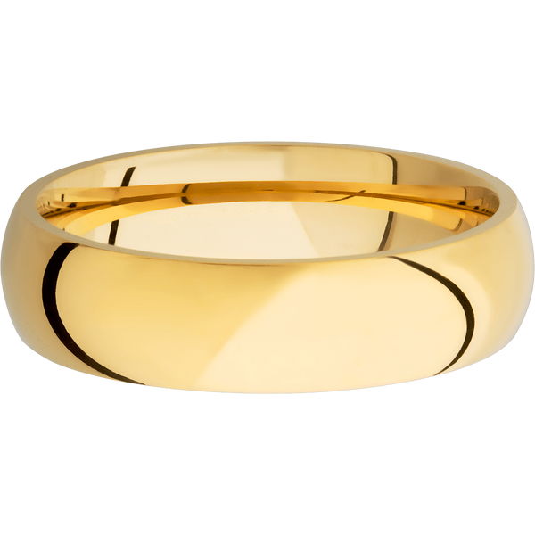 Comfort Fit Men's Wedding Ring with a Polish Finish - Michael E. Minden Diamond Jewelers