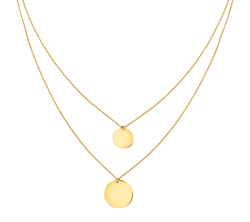 Layered Double Circle Necklace - Michael E. Minden Diamond Jewelers