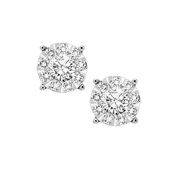 Round Diamond Studs - Michael E. Minden Diamond Jewelers