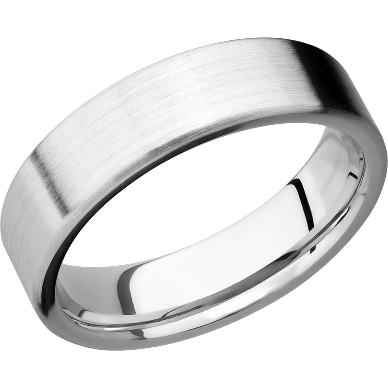 Comfort Flat Fit Men's Wedding Ring with a Satin Finish - Michael E. Minden Diamond Jewelers
