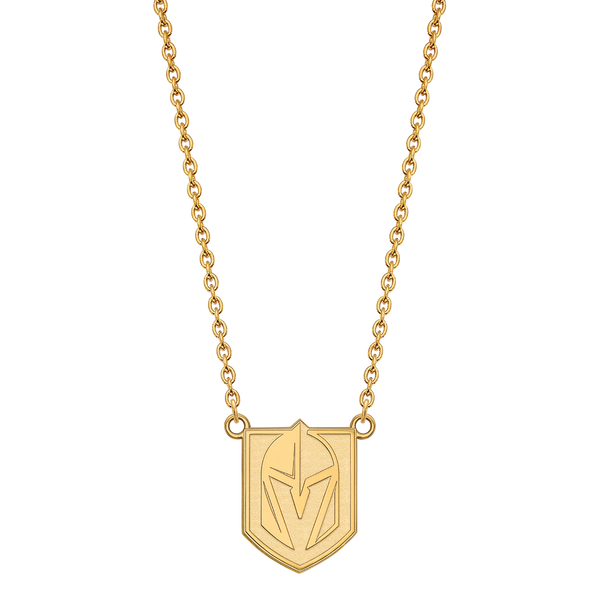 Vegas Golden Knights Shield Necklace - Michael E. Minden Diamond Jewelers