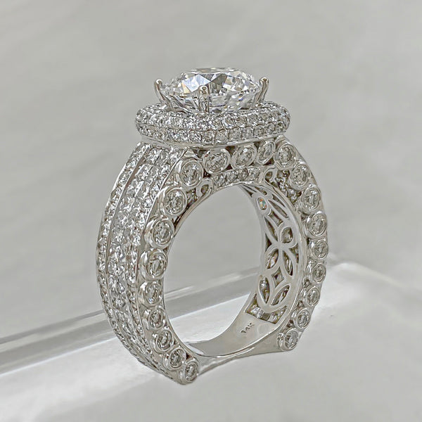 White Gold 9.50ctw Round Brilliant Diamond Ring