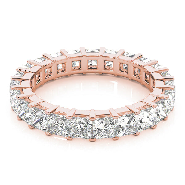 Eternity Princess Cut Prong-Set Wedding Ring - Michael E. Minden Diamond Jewelers
