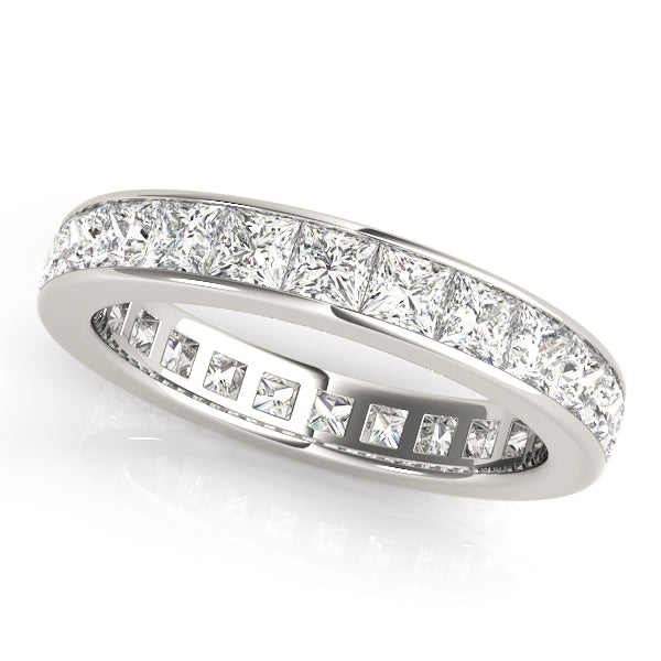 Eternity Princess Cut Channel-Set Wedding Ring - Michael E. Minden Diamond Jewelers