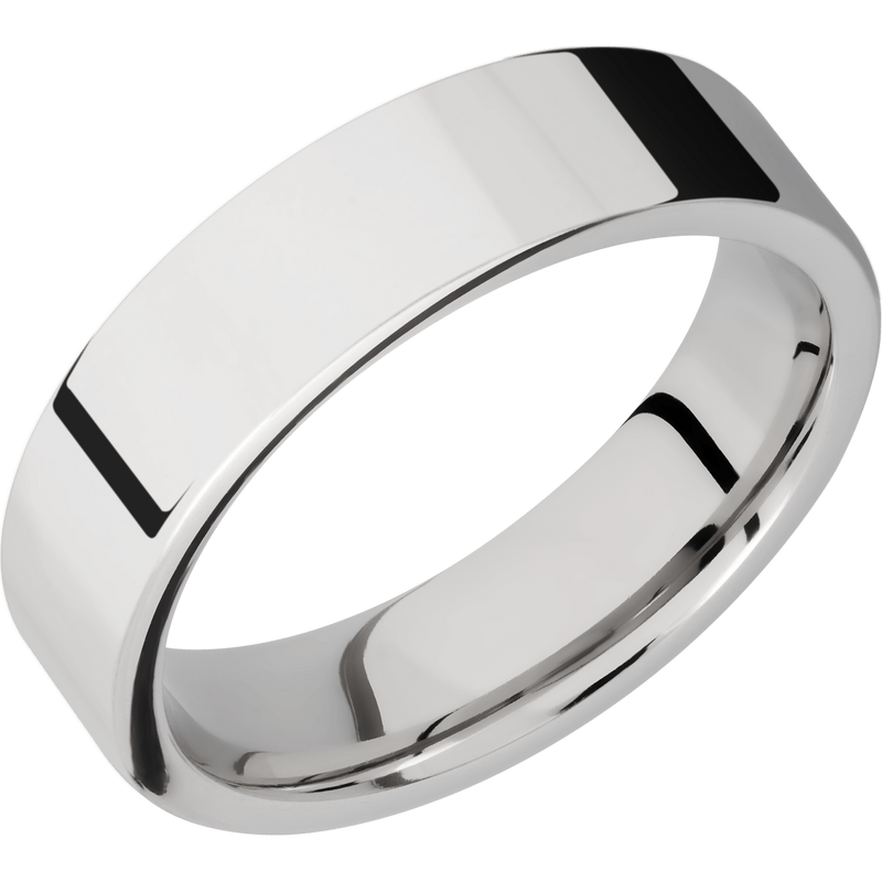 Comfort Flat Fit Men's Wedding Ring with a Polished Finish - Michael E. Minden Diamond Jewelers