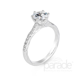 Round Cut Classic Semi-Mount Engagement Ring - Michael E. Minden Diamond Jewelers
