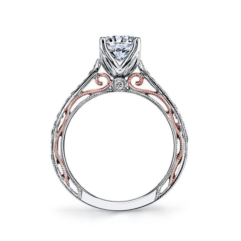 Pave Engagement Ring - Michael E. Minden Diamond Jewelers