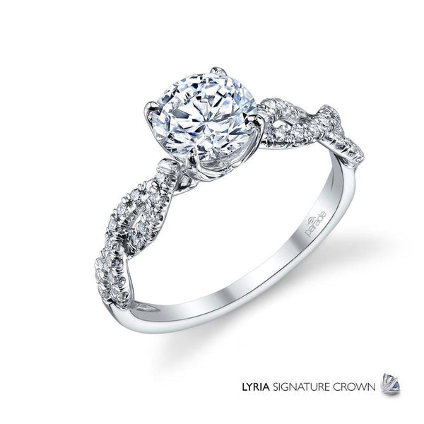 Twisted Diamond Engagement Ring - Michael E. Minden Diamond Jewelers