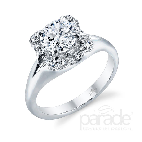 Square Halo Engagement Ring - Michael E. Minden Diamond Jewelers