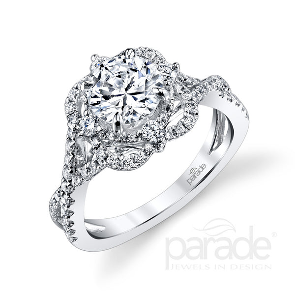 Vintage Style Unique Halo Engagement Ring - Michael E. Minden Diamond Jewelers