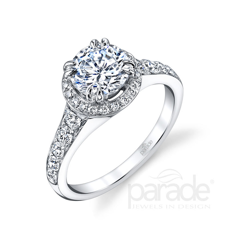 Round Halo Engagment Ring - Michael E. Minden Diamond Jewelers