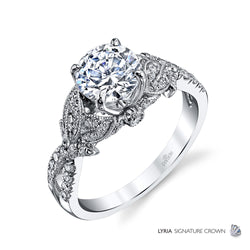 Lyria Nature Inspired Engagement Ring - Michael E. Minden Diamond Jewelers