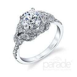 Vintage Inspired Intricate Halo Engagement Ring - Michael E. Minden Diamond Jewelers