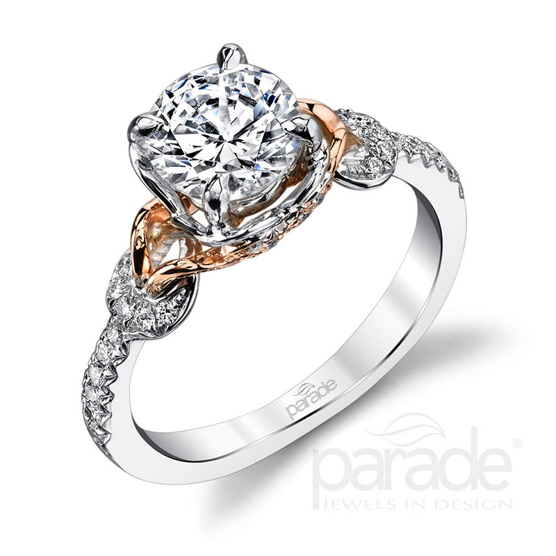 Two-Tone Wrapped Set Engagement Ring - Michael E. Minden Diamond Jewelers
