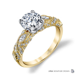 Vintage Inspired Two-Tone Engagement Ring - Michael E. Minden Diamond Jewelers