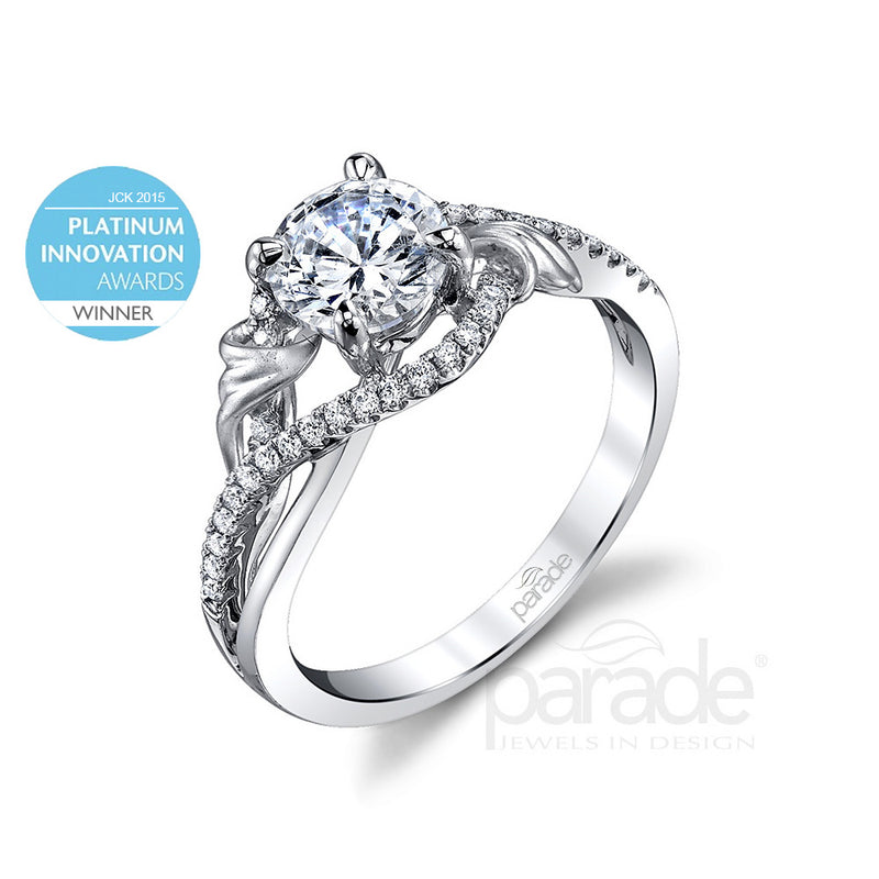 Round Cut Wide Halo Engagement Ring - Michael E. Minden Diamond Jewelers