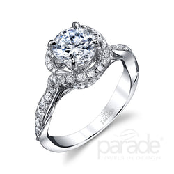 Round Cut Halo Semi-Mount Engagement Ring - Michael E. Minden Diamond Jewelers