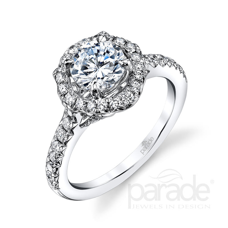 Round Cut Halo Engagement Ring - Michael E. Minden Diamond Jewelers