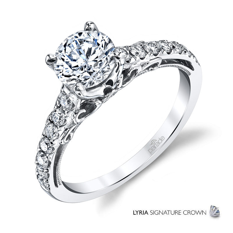 Vintage Inspired Milgrain Detail Engagement Ring - Michael E. Minden Diamond Jewelers