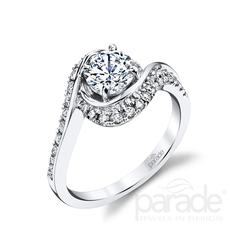 Halo Wrapped Engagement Ring - Michael E. Minden Diamond Jewelers