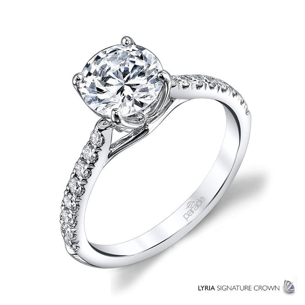 Round Classic Pave Engagement Ring - Michael E. Minden Diamond Jewelers