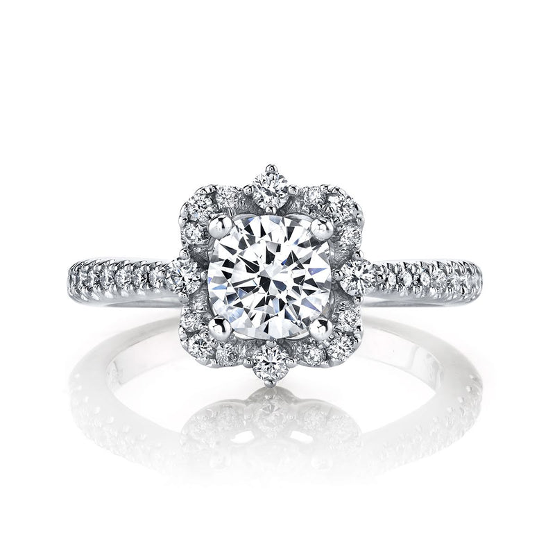 Floral-Inspired Engagement Ring - Michael E. Minden Diamond Jewelers