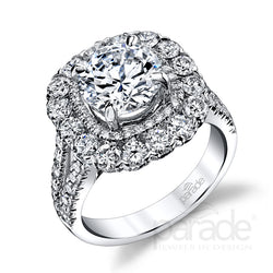 Hemera Double Halo Engagement Ring - Michael E. Minden Diamond Jewelers