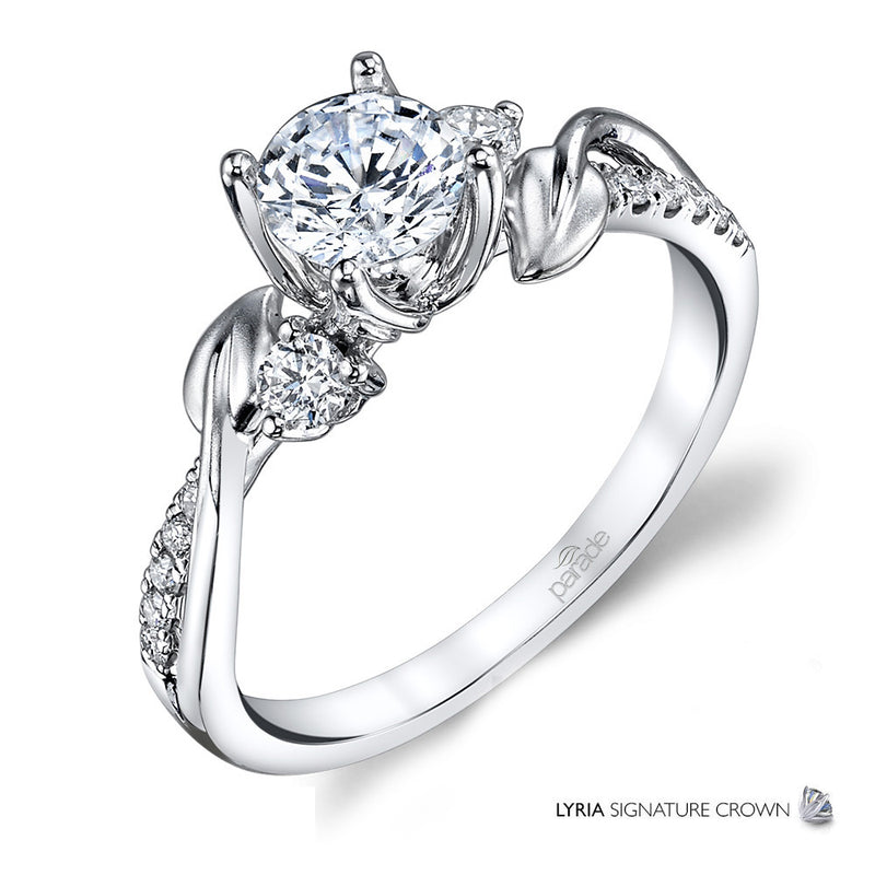 Intertwined Leaf Engagement Ring - Michael E. Minden Diamond Jewelers