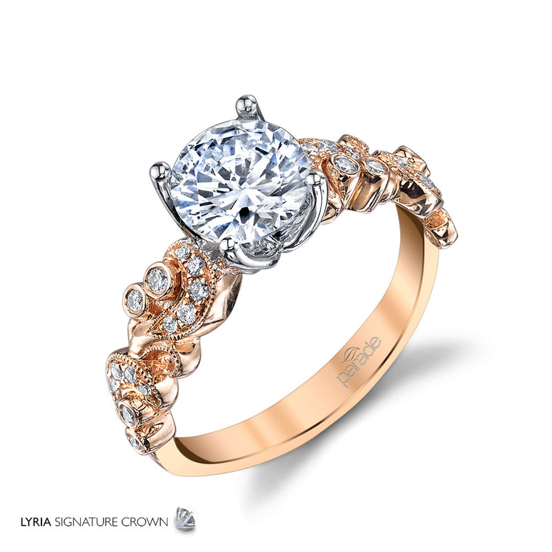 Lyria Circular Detailed Side Engagement Ring - Michael E. Minden Diamond Jewelers
