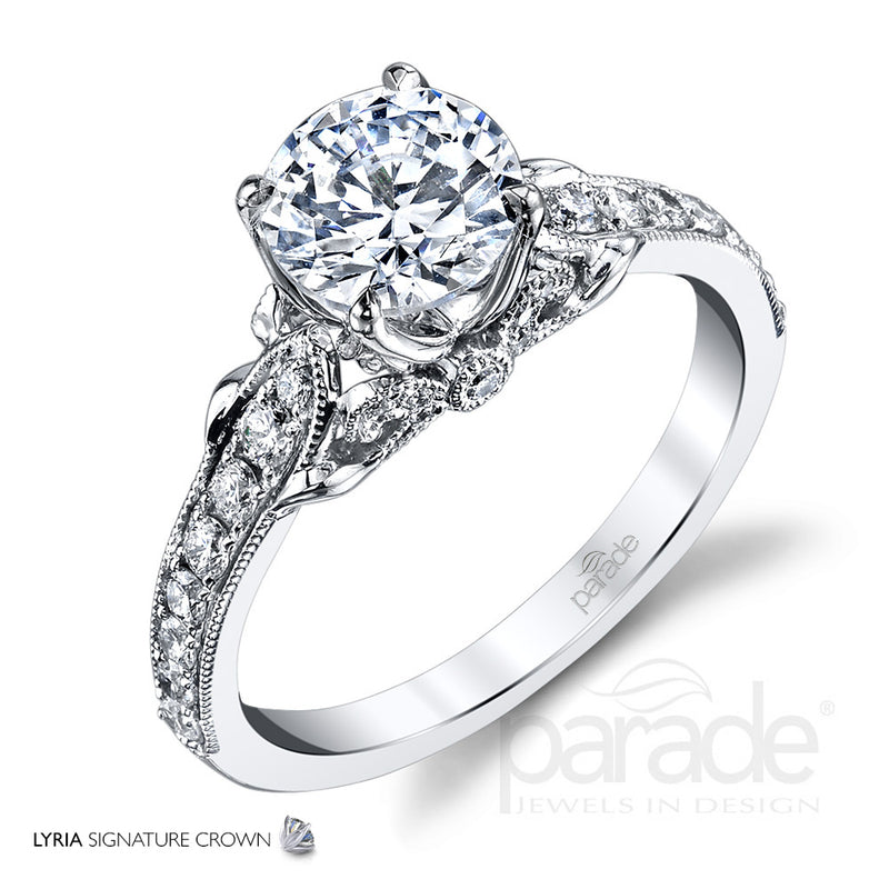 Lyria Tapered Engagement Ring - Michael E. Minden Diamond Jewelers
