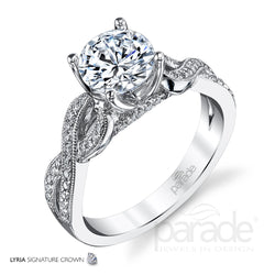 Lyria Twisted Engagement Ring - Michael E. Minden Diamond Jewelers
