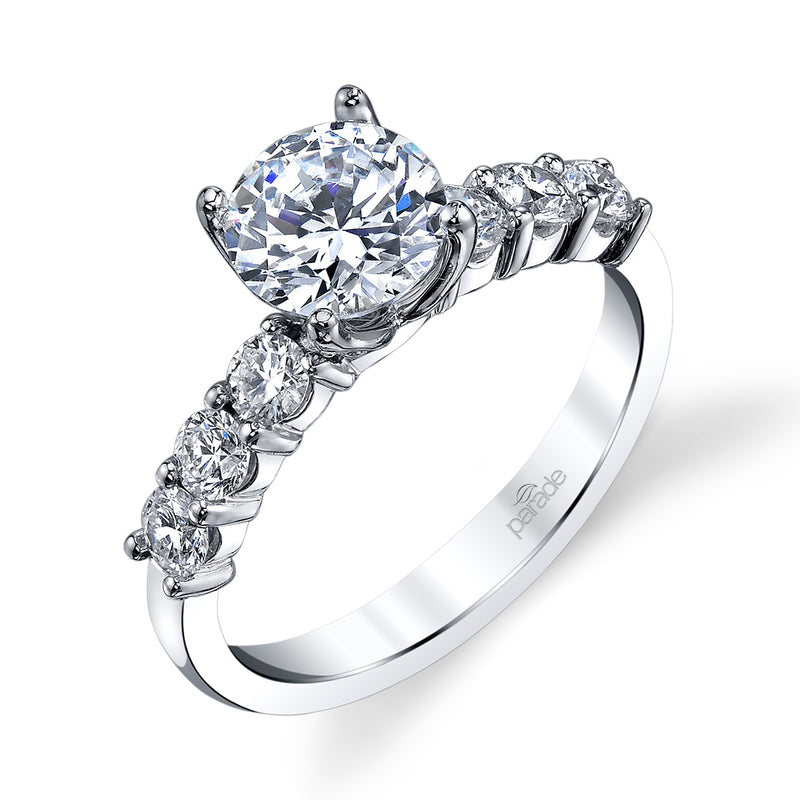 Round Classic Bold Engagement Ring - Michael E. Minden Diamond Jewelers