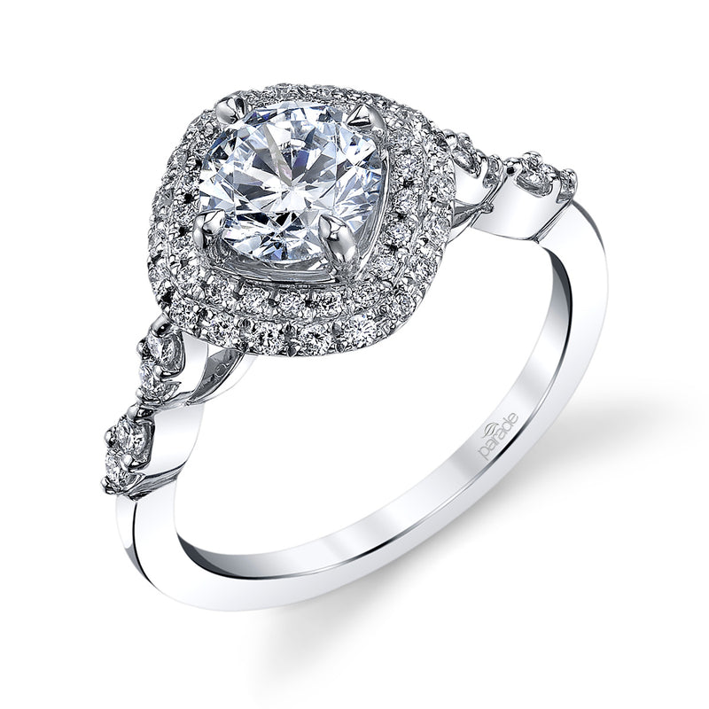 Cushion Double Halo Engagement Ring - Michael E. Minden Diamond Jewelers