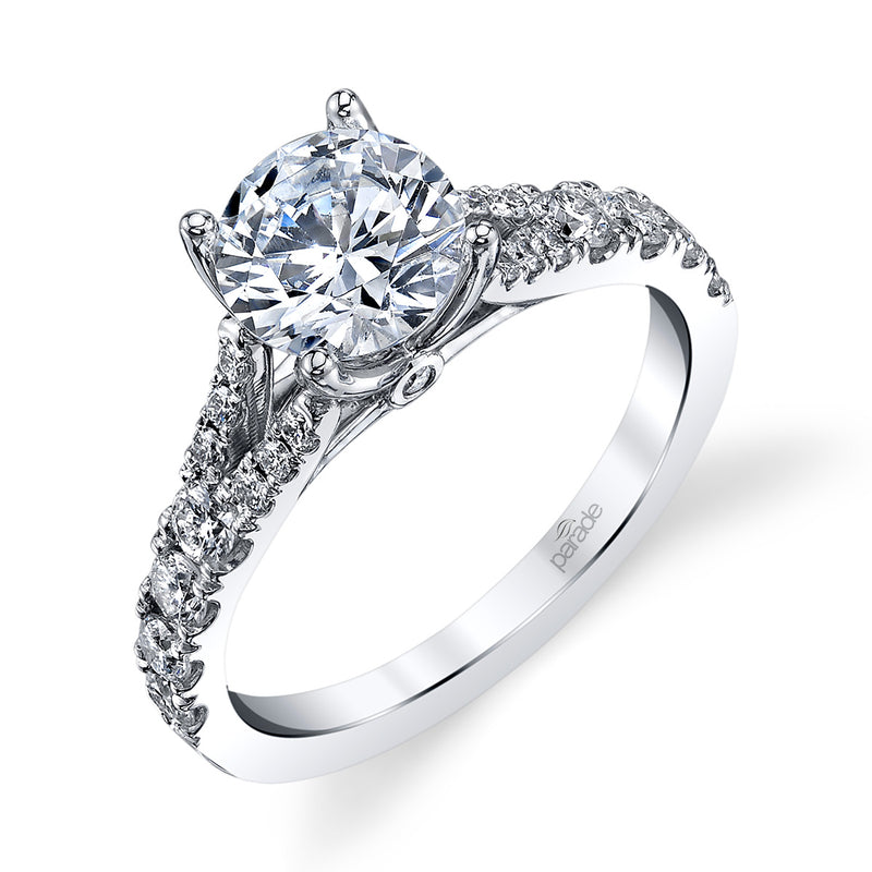 Lyria Tapered Signature Engagement Ring - Michael E. Minden Diamond Jewelers