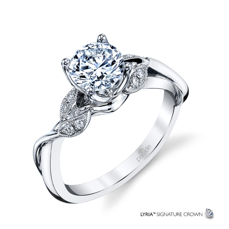 Lyria Nature-Inspired Twist Engagement Ring - Michael E. Minden Diamond Jewelers