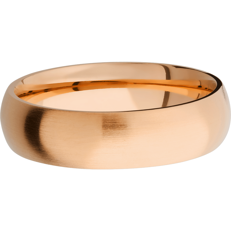 Classic Round Men's Wedding Ring with a Satin Finish - Michael E. Minden Diamond Jewelers