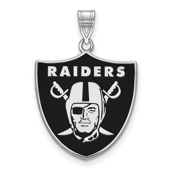 Las Vegas Raiders Large Enameled Logo Pendant