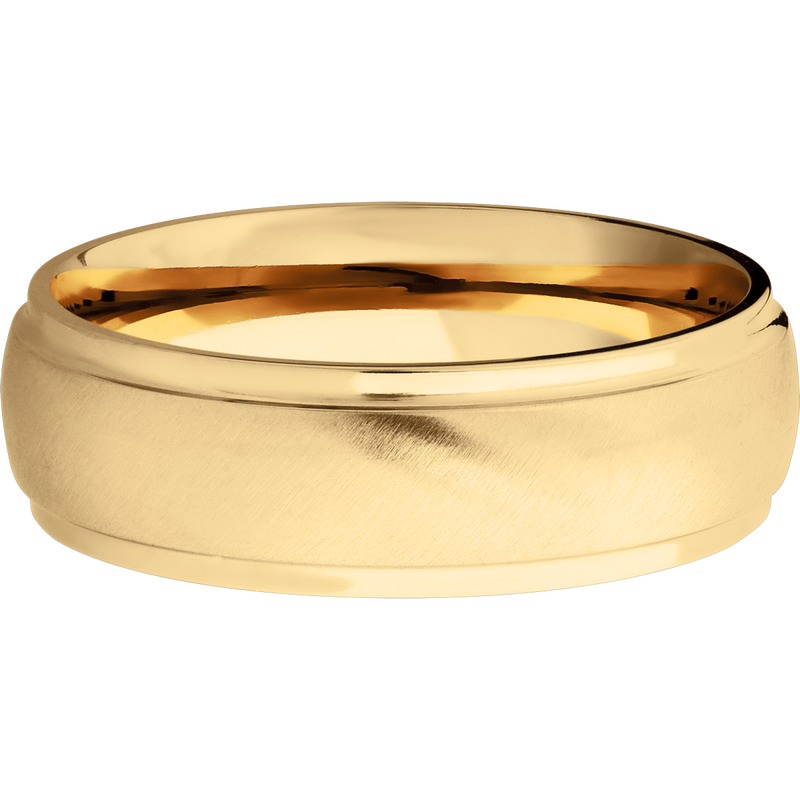 Comfort Fit Stepped Down Men's Wedding Ring - Michael E. Minden Diamond Jewelers
