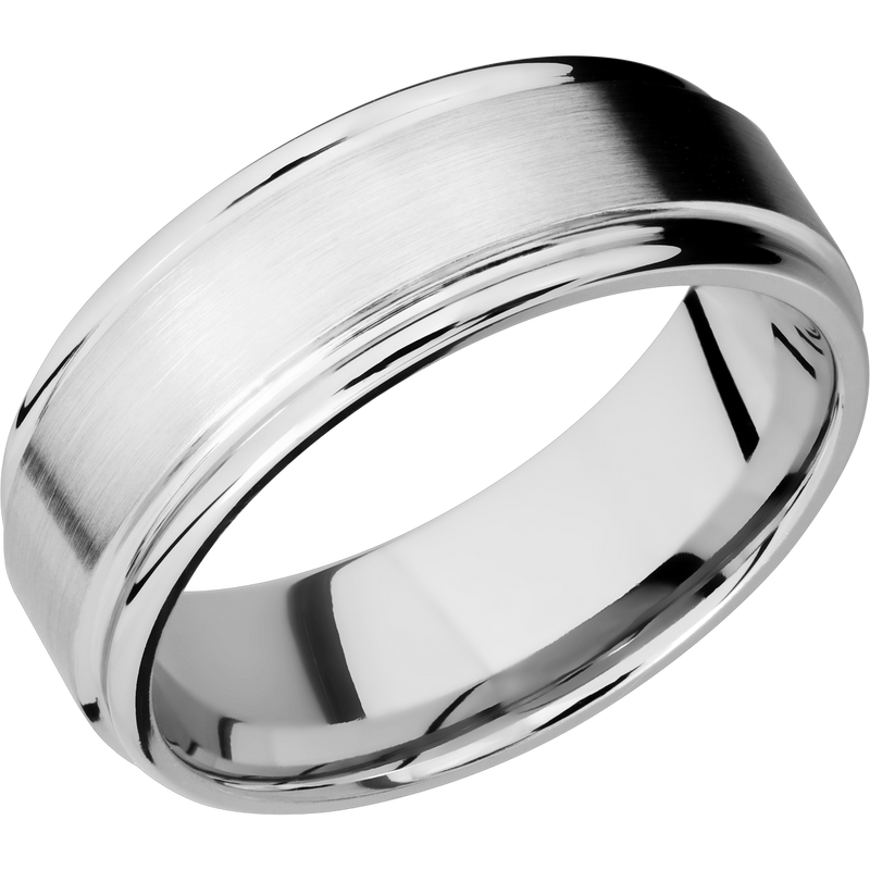 Men's Wedding Ring with Flat Rounded Edges - Michael E. Minden Diamond Jewelers