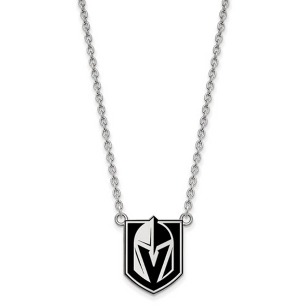 VGK Enamel Shield Necklace