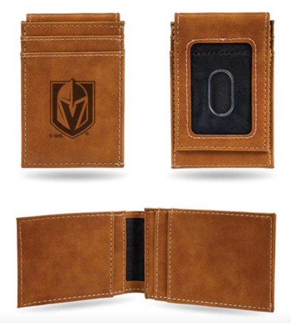 Vegas Golden Knights Leather Wallet - Michael E. Minden Diamond Jewelers