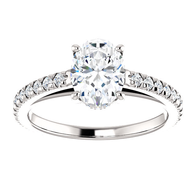 Oval Shape Eternity Set Engagement Ring - Michael E. Minden Diamond Jewelers
